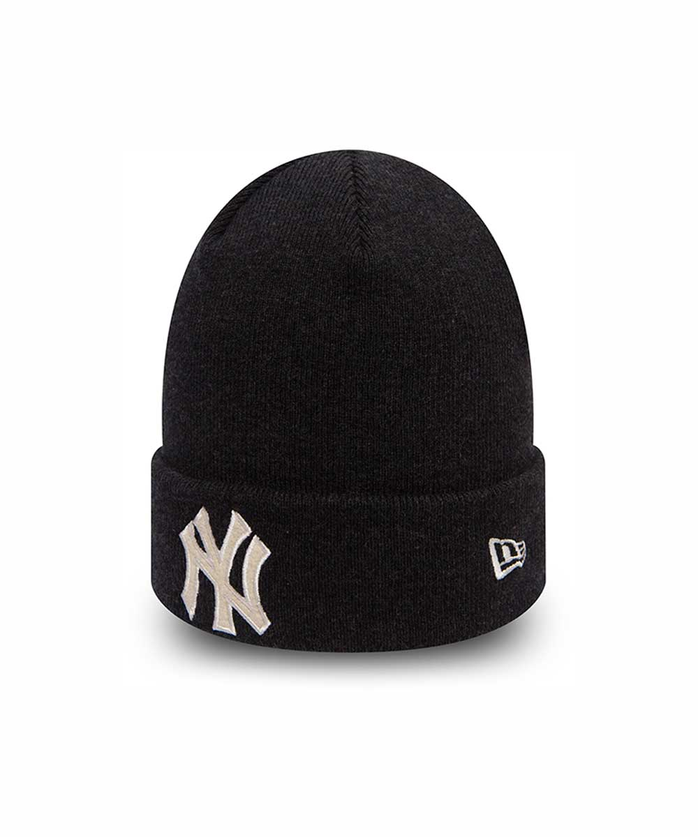 New York Yankees Team Essential Black Cuff Knit - UrbaIn 660ef190995